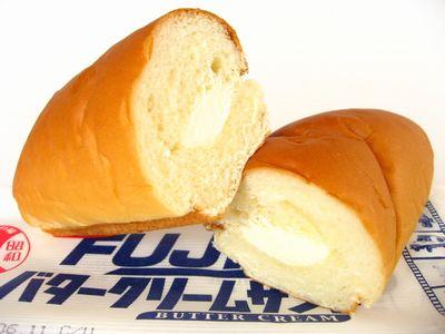 フジパン--FUJIバタークリームサンド。