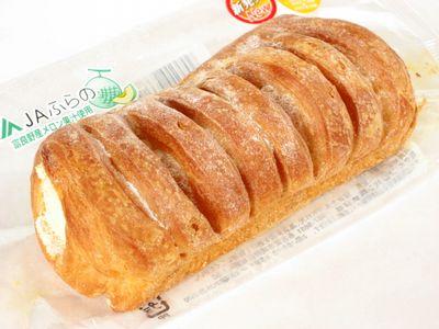 サークルKサンクス--富良野メロンホイップデニッシュ~まごころ仕込み おいしいパン生活・フジパン~。