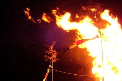 山梨県、南部の火祭りに、行ってきました。