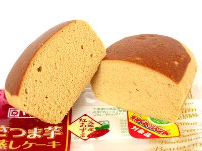 ヤマザキ--さつま芋蒸しケーキ。