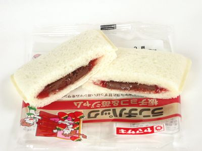 ヤマザキ--ランチパック 板チョコ&苺ジャム。