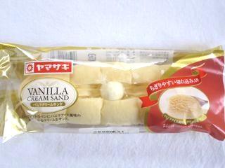 ヤマザキ--バニラクリームサンド。