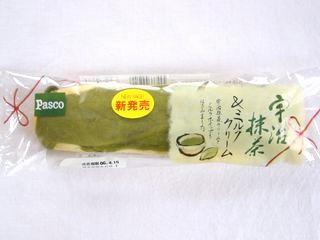 Pasco--宇治抹茶&ミルククリーム。