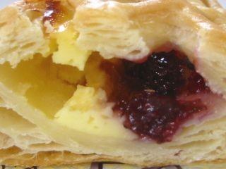 木村屋--ブルーベリー&カスタードパイ。
