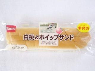 Pasco--白桃&ホイップサンド。