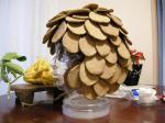 レンガで造ったヘルメット