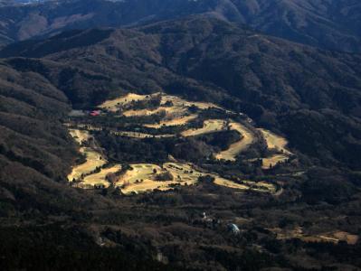 筑波山山頂からゴルフ場