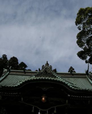 筑波山神社と飛行機