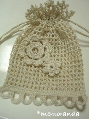 お花の巾着
