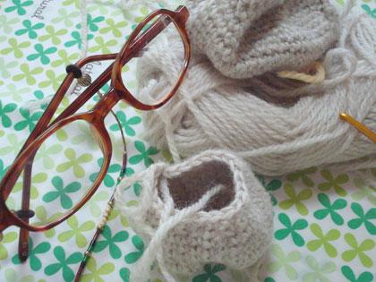 久々の編み針
