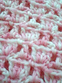 編み地はこんな感じ。