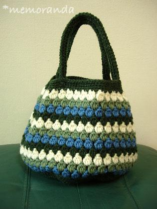 玉編みのプチトート