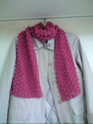 パプコーン編みのマフ