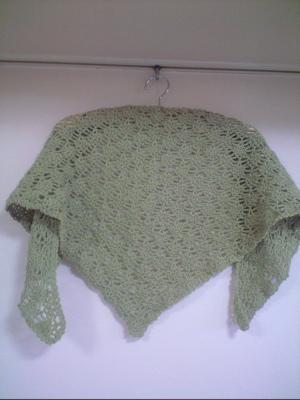 パイナップル編みの三角ショール