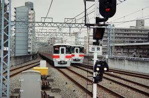 山陽電車5000系の並び(明石)