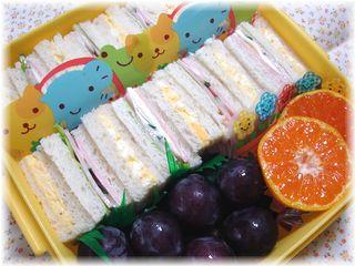 運動会のお弁当♪サンドイッチ&デザート
