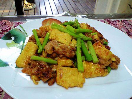 豚バラ高野豆腐の炒め物