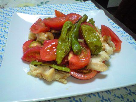 蒸し鶏のトマトサラダ