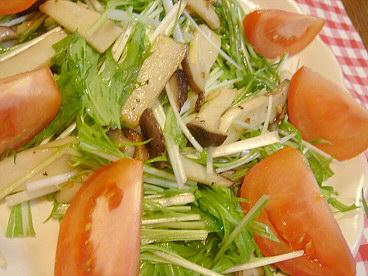 水菜とエリンギのサラダ