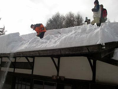 雪下ろし体験