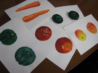 野菜果物デッサン1