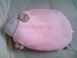 湯たんぽ ピンク羊