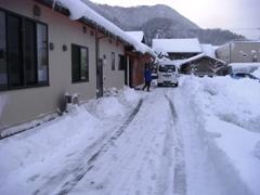 雪かき中☆
