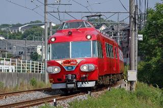 7000系パノラマカー 名古屋本線 東西直通60周年記念列車