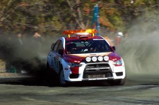 ランサーエボX ラリージャパンのコースカー