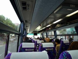 出発直後のバス内の様子