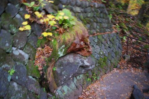 龍王峡 岩を食う鬼