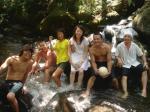 小田原のキャンプ場にて、川遊び