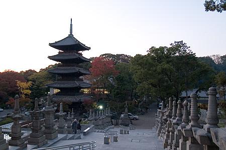 興正寺の五重塔