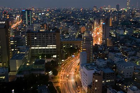 東京手ぶれ夜景