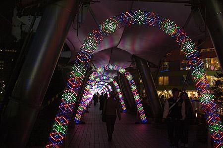 光のトンネル ドームシティ