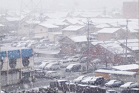 名古屋の雪2007