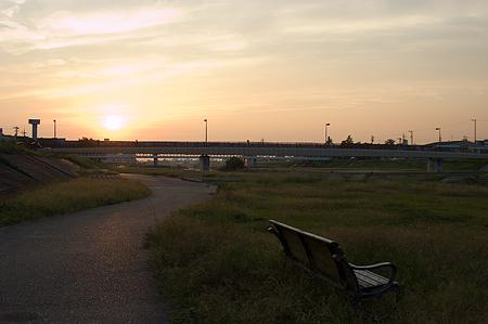 河原夕景-1