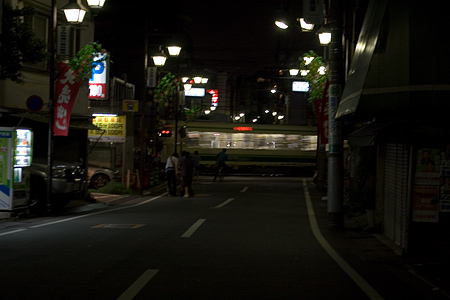 夜の都電荒川線