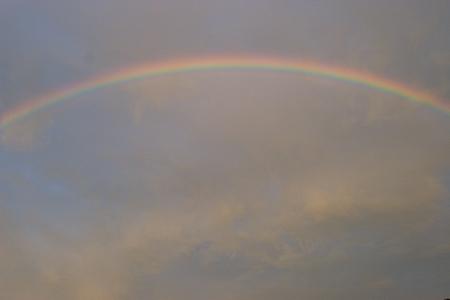 虹と夕焼け-4