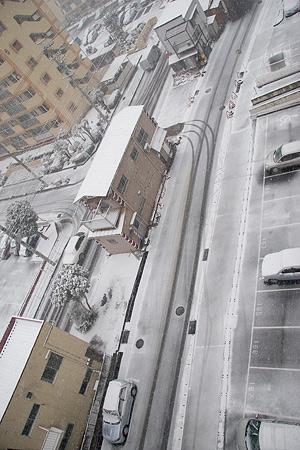 雪の名古屋-3