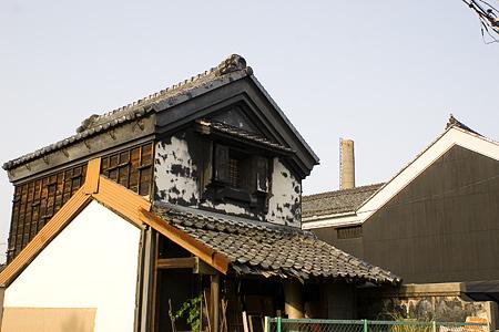 津島本町煙突のある風景