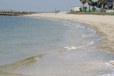波打ち際の砂浜