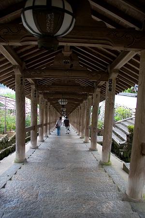 長谷寺屋根付き階段