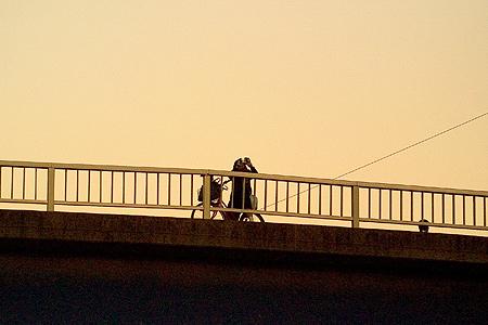 橋の上の彼女