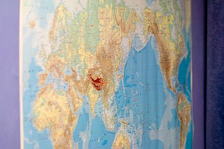 100円ショップの世界地図