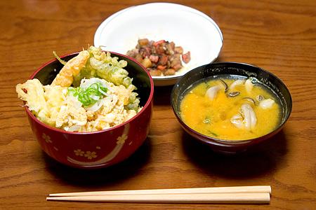 タケノコの天丼