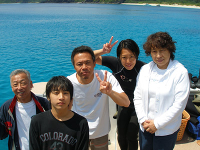 沖縄 ダイビング 集合写真