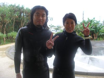 真栄田岬ビーチダイビング
