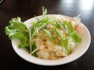 水菜と豆腐のまぜごはん