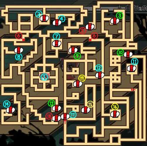 東方の迷宮1階